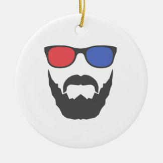 3D beard Christmas Ornament