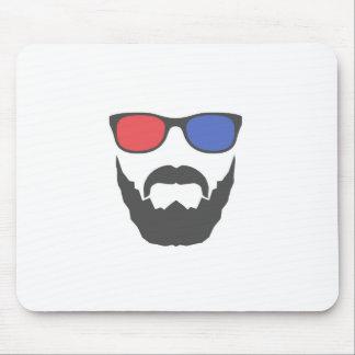 3D beard Mousepad