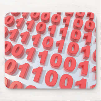 3D binary code Mouse Pad