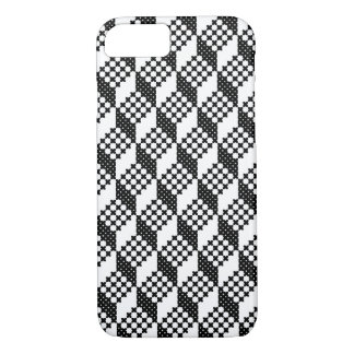 3D black and white cross-stitch cubes pattern iPhone 8/7 Case