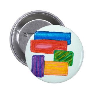 3D blocks Pinback Buttons
