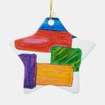 3D blocks Christmas Ornament