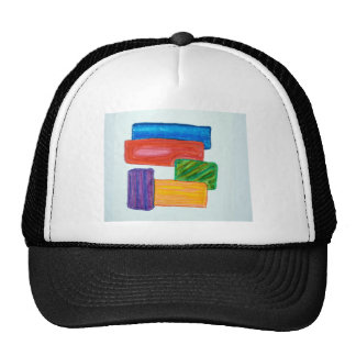 3D blocks Trucker Hat