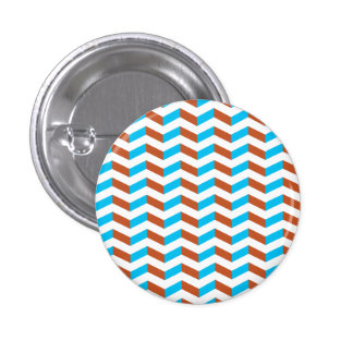 3D blue and red chevron 3 Cm Round Badge