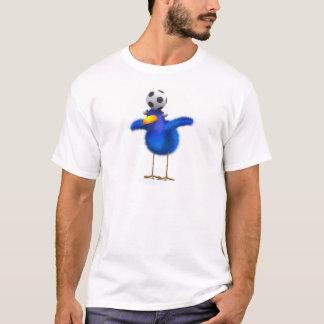 3d Blue Bird Football T-Shirt