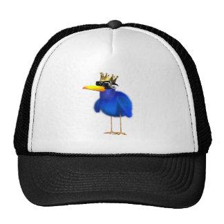 3d Blue Bird King Cap