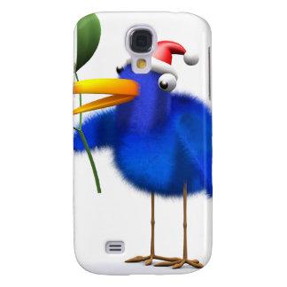 3d Blue Bird Mistletoe Samsung Galaxy S4 Covers