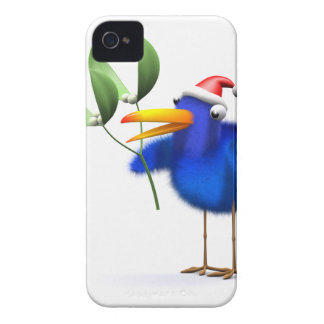 3d Blue Bird Mistletoe iPhone 4 Cover