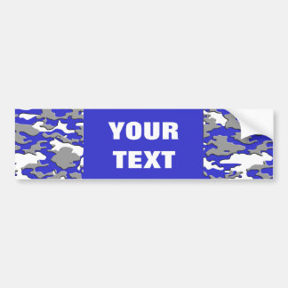 3d blue camo bumper sticker