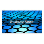 3D Blue Hexagons Background Pack Of Standard Business Cards