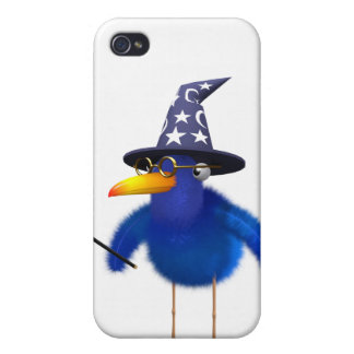 3d Bluebird Cute Wizard Cover For iPhone 4