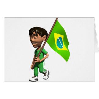 3D Brazil Card
