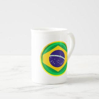 3D Brazil flag Bone China Mug