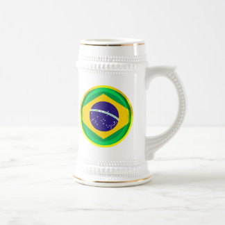 3D Brazil flag Beer Steins