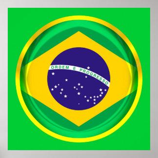 3D Brazil flag Poster