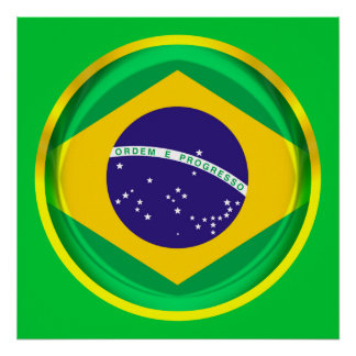 3D Brazil flag Print