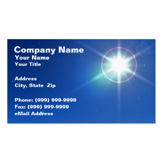 3D Bright Star Against Evening Sky Pack Of Standard Business Cards