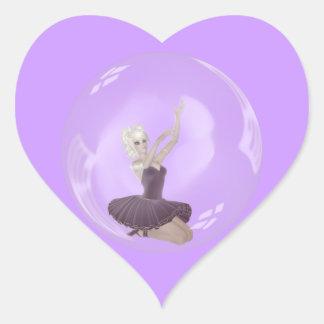 3D Bubble Ballerina 2 Stickers