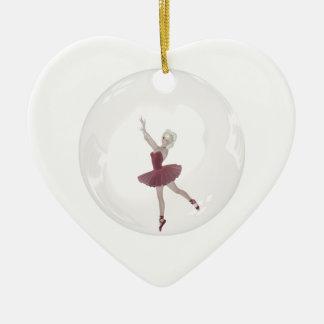3D Bubble Ballerina 3 Christmas Ornament