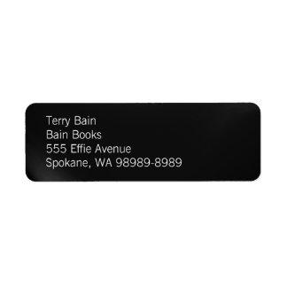 3d Button Return Address Label