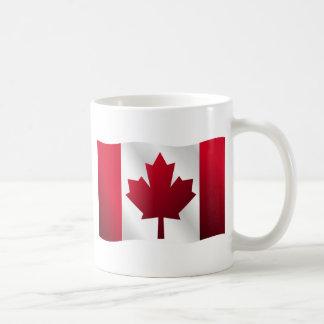 3D Canada Flag Basic White Mug