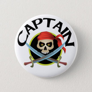 3D Captain 6 Cm Round Badge