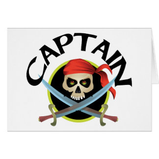 3D Captain Greeting Cards