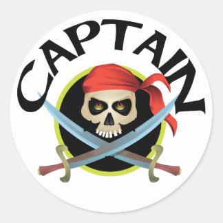 3D Captain Round Sticker