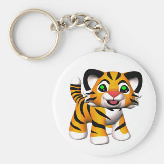 3D Cartoon Tiger Cub Keychains
