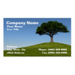 3D Cherry Tree on Hill Against Clear Blue Sky Business Cards