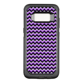 3D Chevron in Purples and Black OtterBox Commuter Samsung Galaxy S8 Case