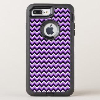 3D Chevron in Purples and Black OtterBox Defender iPhone 7 Plus Case