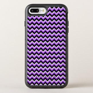 3D Chevron in Purples and Black OtterBox Symmetry iPhone 7 Plus Case