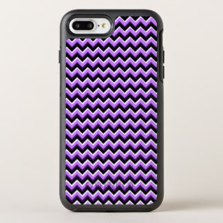 3D Chevron in Purples and Black OtterBox Symmetry iPhone 8 Plus/7 Plus Case