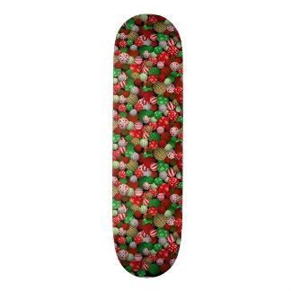 3D Christmas Balls Skate Deck