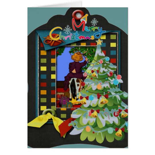 3d Christmas Holiday Greeting Card