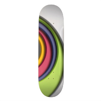 3D, circular Forms, degraded of color 19.7 Cm Skateboard Deck