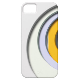 3D, circular Forms, degraded yellow housing Barely There iPhone 5 Case