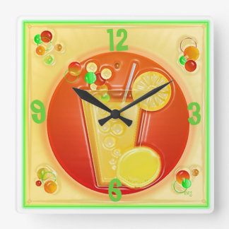 3D COCKTAIL HOUR Wall Clock