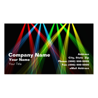 3D Colored Spotlights (RGBY) Pack Of Standard Business Cards