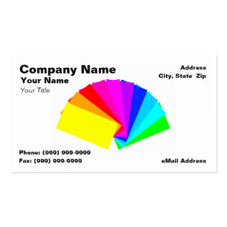 3D Colorful Paint Chips Business Cards