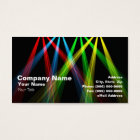 3D Coloured Spotlights (RGBY) Business Card
