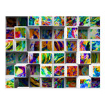 3D Colourful Medium Cubes. Abstract Multi Colours