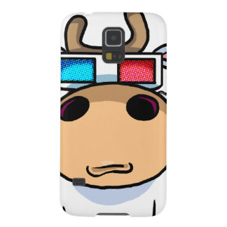 3D Cow specs Galaxy S5 Covers