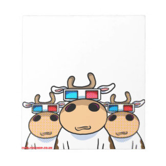 3D Cow specs Notepad