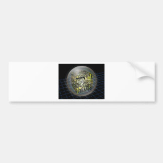 3D Cube Galactic Light Bumper Stickers