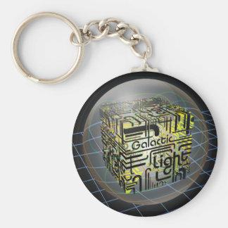 3D Cube Galactic Light Key Chain