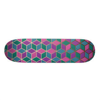 3D Cubes 21.6 Cm Old School Skateboard Deck