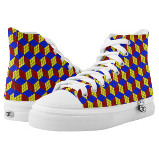 3d cubes high tops