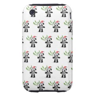 3d Cute Baby Panda Mistletoe Tough iPhone 3 Case